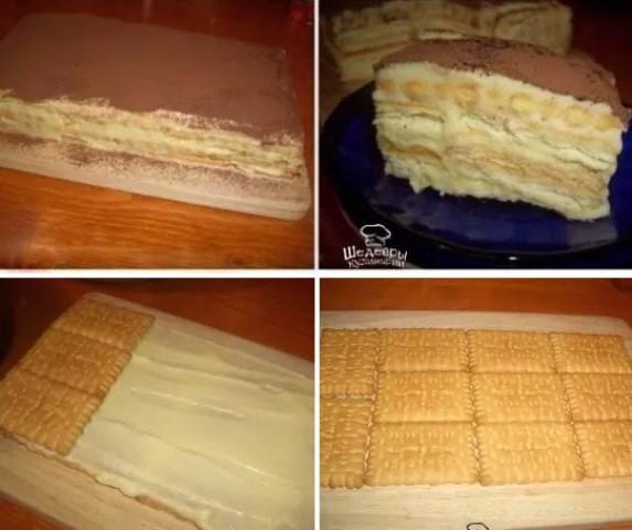 Торт «А-ля тирамису»! Можно готовить хоть каждый день!