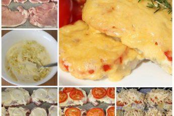 Свинина с помидорами и сыром - рецепт на века