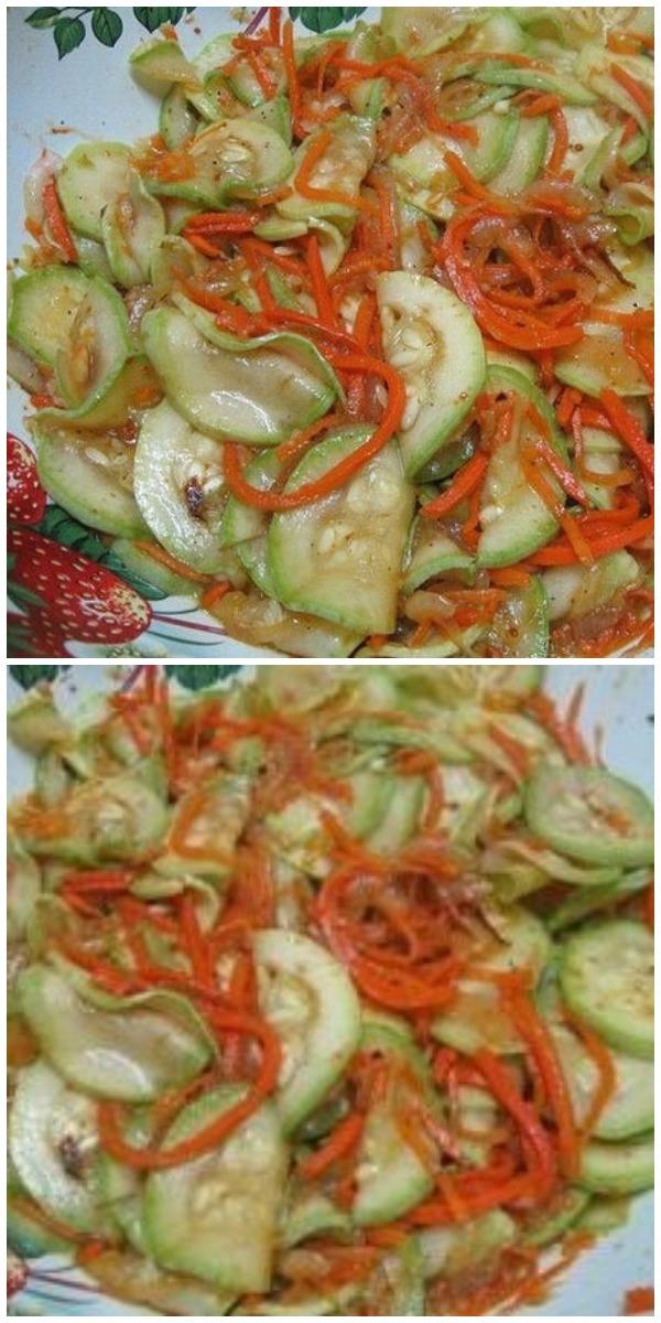 Вкусные кабачки по-корейски по маминому рецепту