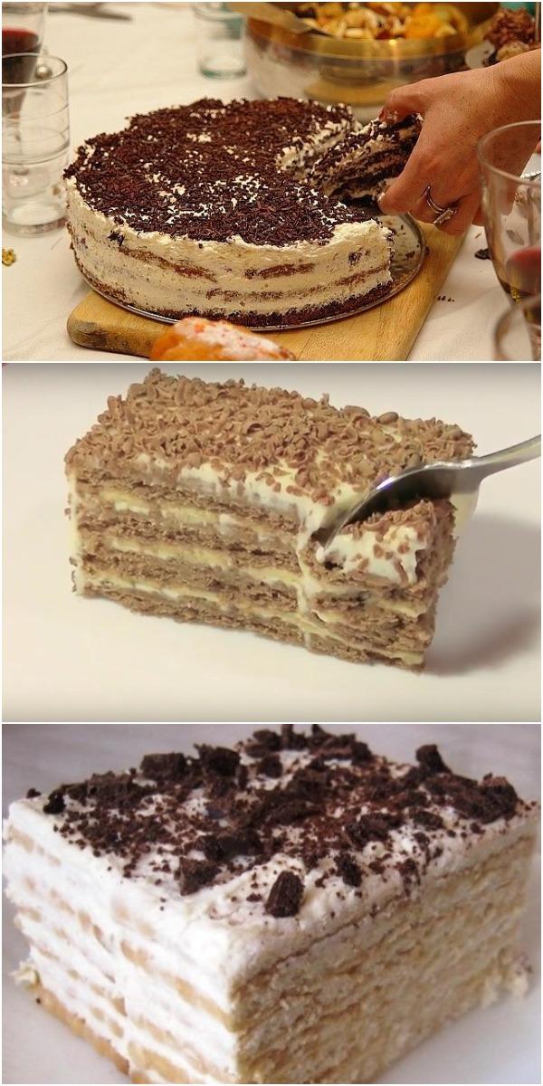 Обалденный торт за 20 минут, БЕЗ ВЫПЕЧКИ!