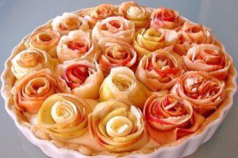 Яблочный пирог с розочками. Кулинарная идея!