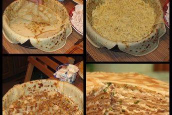Рецепт нежнейшого БЛИННОГО ПИPOГА C КУPИЦЕЙ U ГPИБAМИ. Идеальное блюдо на семейные праздники!