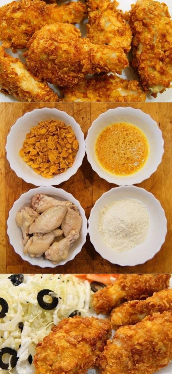 Рецепт настоящих крылышек а-ля KFC