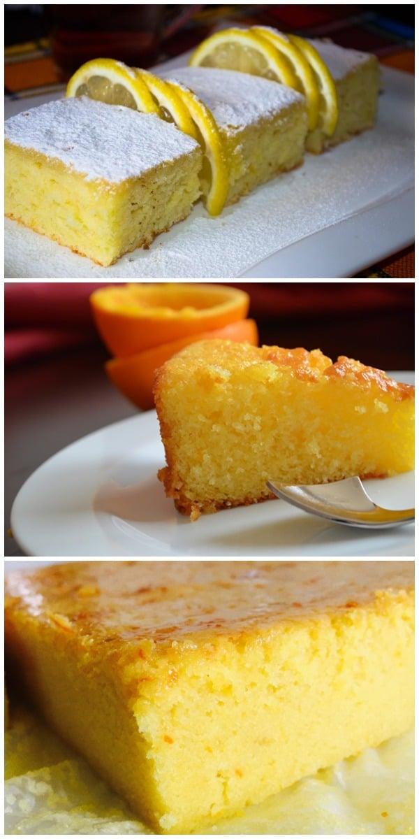 Быстрый и очень вкусный ЛИМОННЫЙ пирог «Лентяйка». Сочный, объедение!