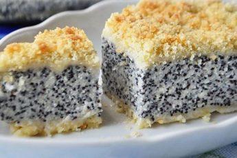 Самый популярный десерт в кафе и ресторанах – «НЕМЕЦКИЙ МАКОВЫЙ ТВОРОЖНИК»!