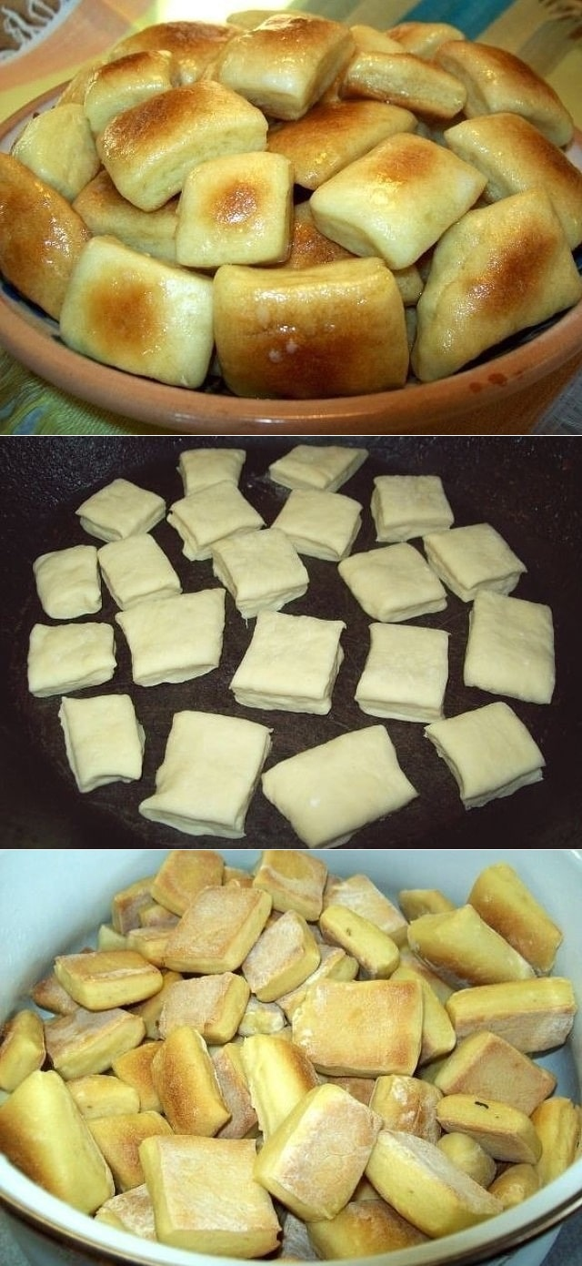 Пампушки на кефире с чесночным саламуром. Мой любимый рецепт