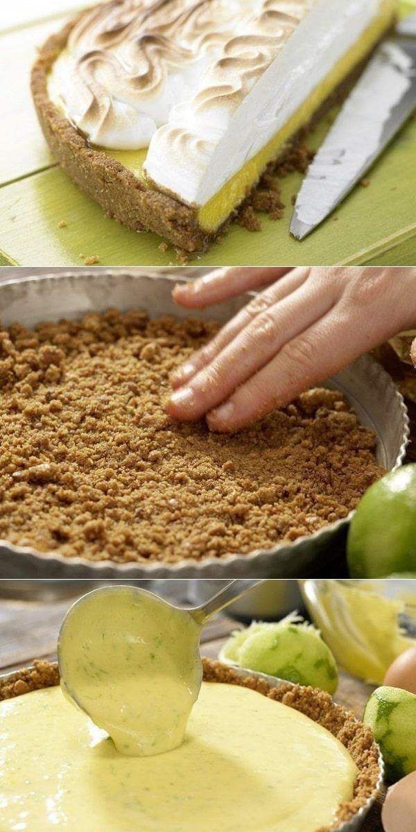 Достоин праздника! Торт — безе с лаймовым кремом