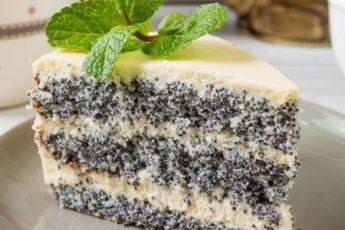 Изумительный торт с маком «Блаженство» по старому забытому рецепту